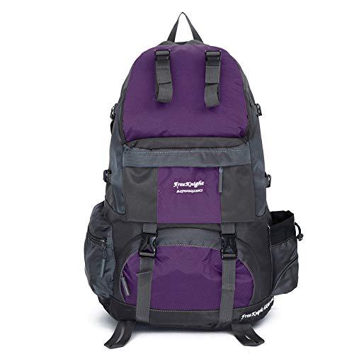 Generic Sac à Dos de randonnée Unisexe - 50 l - Grande capacité - Violet - Taille Unique