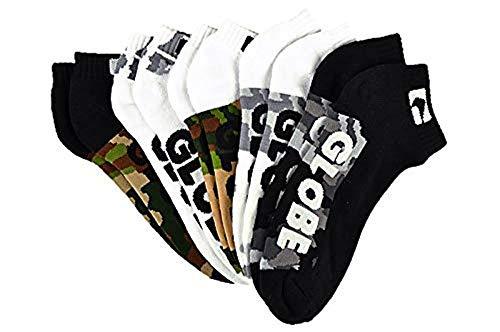Globe Malcom camo 5er Pack Knöchel Socken, Gemischt CAMO, Size 7-11