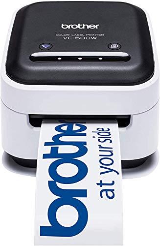 Brother VC-500W Stampante di Etichette a Colori con Tecnologia ZINK Zero Ink, Connettività USB e wireless. Bianco/Nero