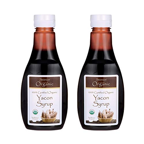 Swanson 100% Certified Organic Yacon Syrup 14 oz Liquid 2 Pack