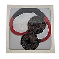 ルームのためのミニハンズフリーネックバンドハンズフリーハンギングUSB充電式デュアルファンミニエアクーラー夏ポータブル2000Mare,ブラック