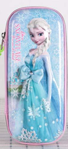 Frozen EVA zipper pencil case 3D gauze skirt pupil girl pencil case pencil case children's stationery box gift-Pink