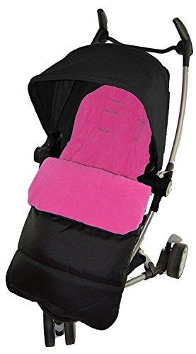 Voetzak/COSY TOES compatibel met Quinny Zapp kinderwagen roze roze