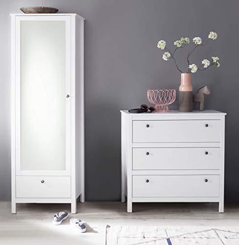 trendteam smart living  Garderobe Garderobenkombination 2-teiliges Komplett Set Ole, 168 x 192 x 38 cm in Weiß mit viel Stauraum