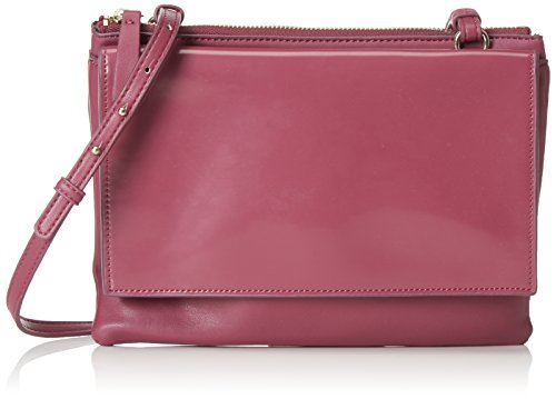 French Connection Damen CLEAN PU CALLIE ZIP POUCH Clutches, Violett (DARK MAGENTA 60), 25x18x5 cm