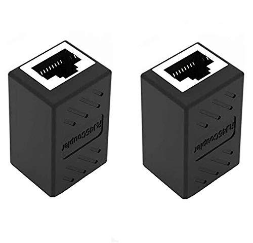JINXM 2 Stück, RJ45 Koppler, Kupplung Verbinder, für Ethernet Cat 5 / CAT 6 LAN Ethernet Kabel Extender Surfen Sie online zur gleichen Zeit Netzwerkadapter-Anschluss