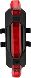 JannahMehr MTB Bicycle USB Rechargeable Bike Tail Light Safety Cycling Warning Rear Lamp, Adjustable, Durable, Waterproof