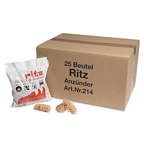 Ritz Bio Anzünder Bio Kamin- und Grillanzünder für Holz & Kohle (325 Anzünder)
