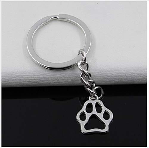 Familienkalender Hund Pfote Hundepfote Glücksbringer Schlüsselanhänger Metall silberfarben | Glück | Welpe | Dog | Geschenk