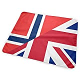 Cambiador de pañales de la bandera de Birtish y Noruega, impermeable, reutilizable, grande para cambiar el colchón de pañales para niño y niña recién nacido (25,5 x 31,5 cm)