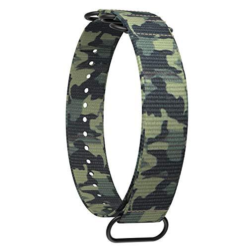 Ullchro Nylon Correa Reloj Calidad Alta Correa Relojes Militar del ejército - 20mm, 22mm Correa Reloj con Hebilla de Acero Inoxidable (20mm, Camouflage 6)