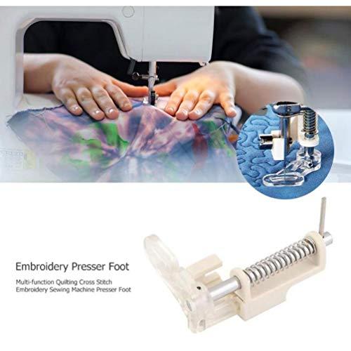 Oulensy Multifunktions-Stickerei Quilting Stopffuß Nähmaschine Presser Stickfuß Universal-Stick Werkzeuge