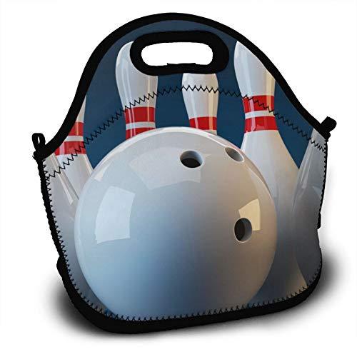 Weretlyop Cool Bowling Ball Lunch Bag Unisex Home Gym Sack Bag Sport Drawstring Backpack Bag