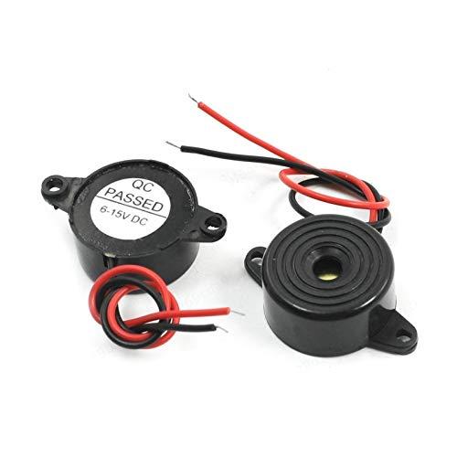 LIUSHUI 2 Piezas de Alarma electrónica Activa zumbador DC 6-15V HYD-2312 tamaño 22 * 11 mm