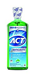ACT Alcohol Free Anti-Cavity Fluoride Mouthwash Mint 18 oz Helps Prevent Cavities, Strengthen Tooth