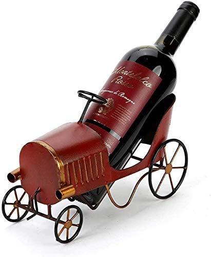 JBNJV Estante para vinos Estante para Copas de Vino Estilo de automóvil clásico Europeo Personalidad Creativa Estante para vinos Retro Old Country Escritorio Decoración del Porche Estante para Vin