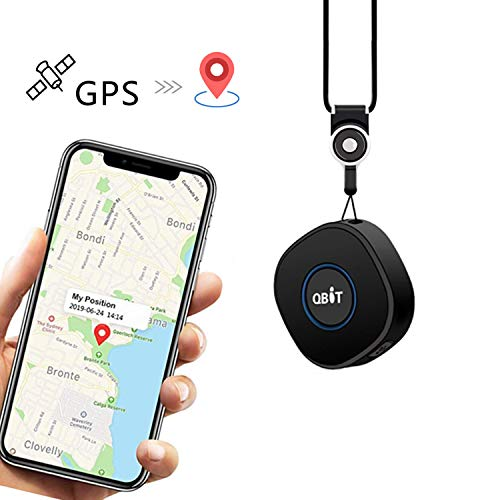 Lncoon Mini GPS Traceur avec Application Gratuite pour Android iOS, GPS Tracker Portable Con Suivi GPS en Temps Réel/Géolocalisation/Alarmes SOS/Conversation à Deux Voies pour Enfants/Personnel