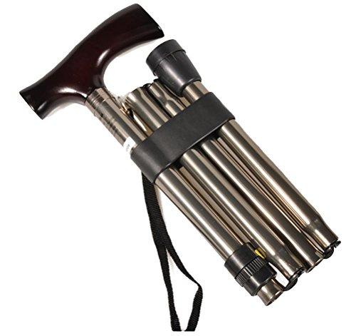 RUIRUI Plus épais Aluminium Pliage Canne est évolutive et Facile à Porter des bâtons de Marche Cannes de Marche