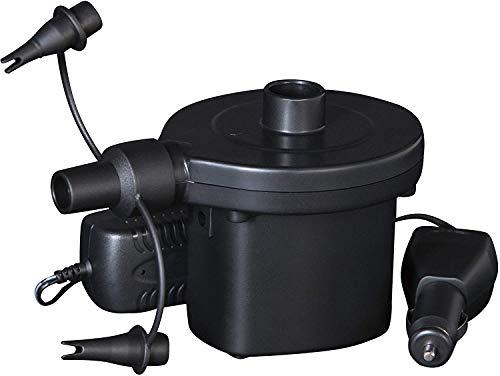 Bestway Elektronische Luftpumpe Mobile Akku Elektropumpe, Aufladbar Mit 220-240v Und 12v Zigarettenanzünder, 62083, schwarz, 30x11x12 cm