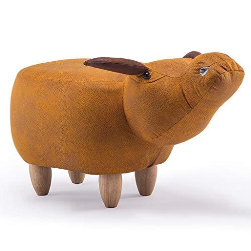 Preisvergleich Produktbild GWM Hocker,  Kleiner Sitz,  Cartoon Tierhocker,  Kalb,  Schuhbank,  Sofa Hocker 69 * 35 * 37cm (Farbe : Orange)