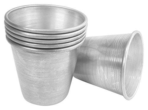 VESPA 923100Babà Unidades 6moldes, Aluminio, 6x 6cm