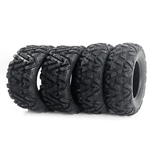 "MOTOOS Set of 4 26"" ATV/UTV Tires 26x9-12 Front & 26x11-12 Rear Tubeless 6PR Deep Mud Powerful Durable"