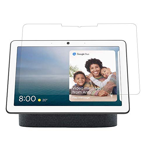 [2 paquetes] Google Nest Hub Max Protector de pantalla de vidrio templado Google Nest Hub Max, protector de pantalla HD antiarañazos, protector de pantalla para Google Nest Hub Max de 10 pulgadas