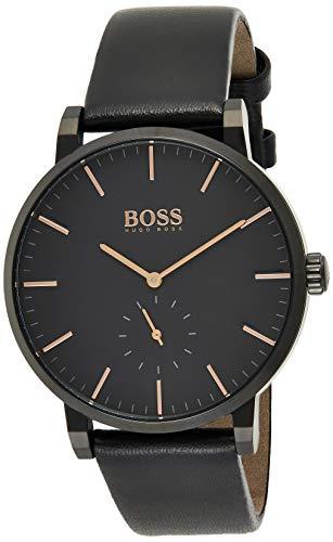 Hugo Boss Herren Analog Quartz Uhr mit Leder Armband 1513768
