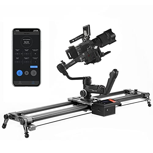 YC Onion Motorized Camera Slider 100cm/39''Camera Rail with APP Control Carbon Fiber,3-4 or 5 Axis Video Slider Dolly Track Motion Rail Compatible with Ronin S and RS2 Stabilizer and Zhiyun Stabilizer