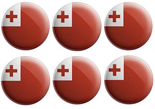 AK Giftshop Tonga Flaggen-Anstecker – Partytütenfüller – Events – Feiern – Sammler – Dekorationen – Sockenfüller (12 Stück)