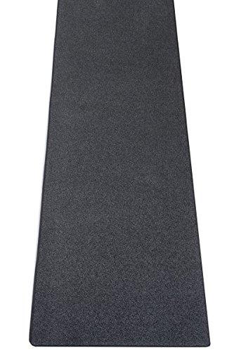 havatex Teppich Melange Frieze Athen Läufer - und schadstoffgeprüft | robust pflegeleicht und dekorativ | für Schlafzimmer Flur Diele, Farbe:Anthrazit, Größe:80 x 200 cm
