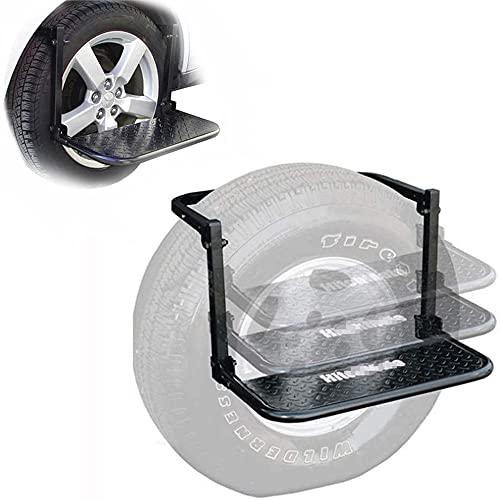 YNITJH Pedal Plegable para de Coche,Aleación de Aluminio Escalera Anillo Fácil Acceso a Techo de Seguridad,para Vehículo Automóvil SUV,Carga máxima 150 kg