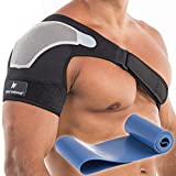 Shoulder Brace for Women or Men, Shoulder Support for Torn Rotator Cuff, Compression Sleeve for Pain Relief, Stability Brace and Shoulder Immobilizer for Dislocation, Subluxation (Small-Medium)