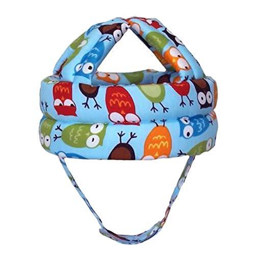 1pc Baby-Sicherheits-Anti-Kollisions-Schutz Helm Hut weicher bequemer Kopf einstellbar (Blue Owl 45-58cm)