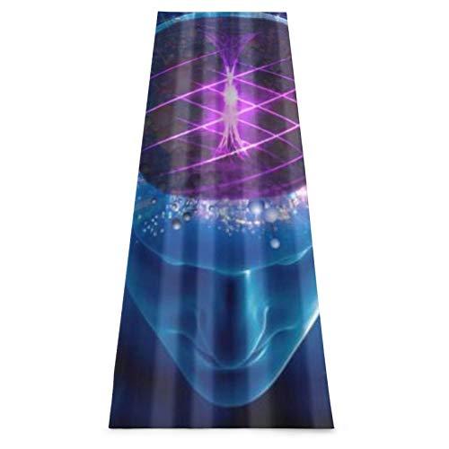 LOSUMIGE Esterilla Yoga Esencia espiritual Cerebro humano Colorful Espumoso Colchonetas de ejercicio Pilates para entrenamiento en casa Gimnasio Fitness Meditación Alfombra