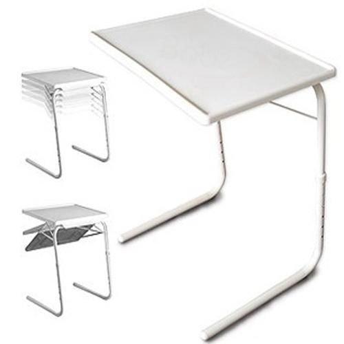 Grande pieghevole TV/laptop da tavolo, bianco, 20.71x 16.22x 2.44cm