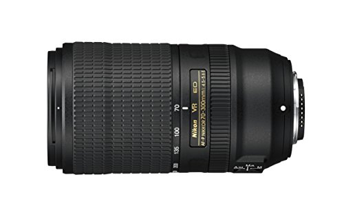 Nikon AF-P 70–300mm f/4.5–5.6E ED VR Teleobjetivo para DSLR, Negro...