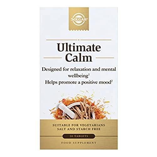 Solgar | Ultimate Calma | Relajación y Bienestar Mental | 30 comprimidos