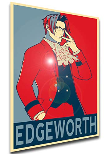 Instabuy Poster - Propaganda - Ace Attorney - Miles Edgeworth Variant A3 42x30