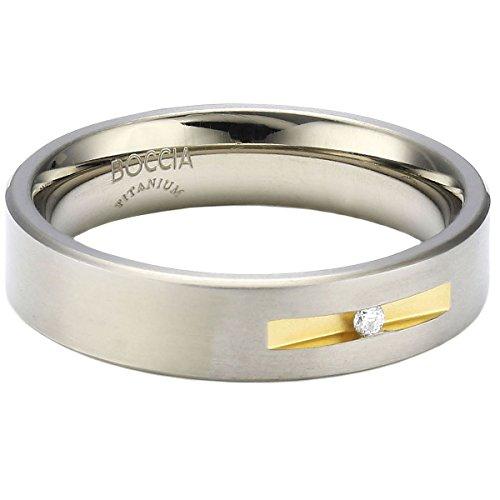 Boccia Damen-Ring Titan Bicolor 1 Brilliant 0,03 ct Gr.56 0101-0856