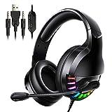 Lpinvin Auriculares para Juegos Gaming Headset sobre-Oído con conexión de Cable del Juego de...
