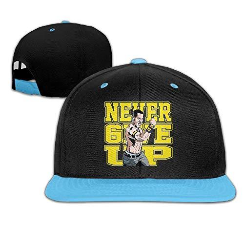 YVES Unisex Kids John Cena Logo Never Give Up Hit Color Hip-Hop Baseball Caps Hats Royalblue