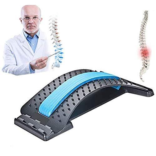 NIUPSKY Rückendehner im unteren und oberen Rücken, Rückenmassage Lendenwirbeldehner, Haltungskorrektur, Rückenstütze für Bürostuhl, Muskelverspannungen Fitness Back Stretcher (Blau)
