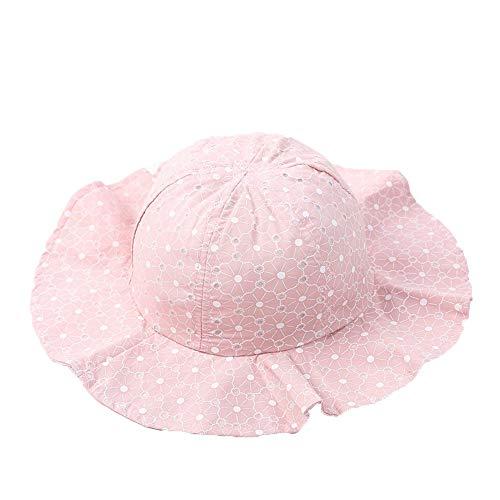 Bebé Verano Sombrero De Cubo Al Aire Libre Niños Niños Floral Cap Sun Beach Caps Encantador Encaje Princesa Brim Baby Girl Sun Sombrero Suave y Cómodo Sombrero