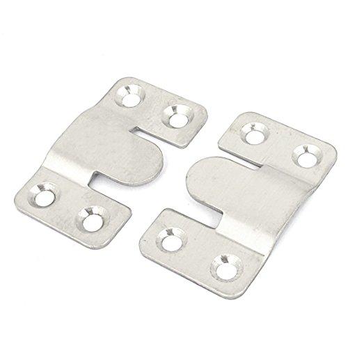 Sourcingmap– Marco de fotos gancho de la percha de acero inoxidable 53mm x 30mm 2pcs tono Plata