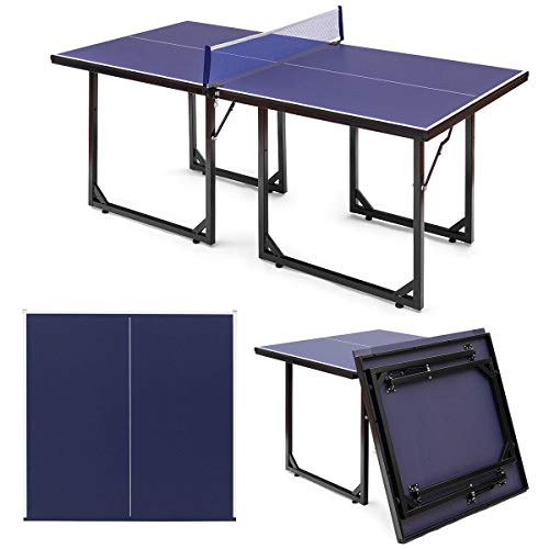 Review AchieveUSA Multi-Use Foldable Midsize Removable Compact Ping-Pong Table