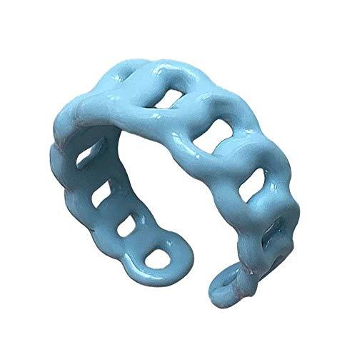 Kunstharz-Ring, hohl, Macaron-Ring.