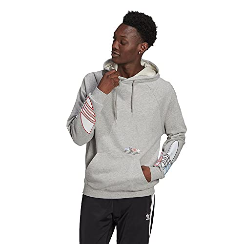 adidas Herren Tricol Hoody Kapuzenpullover, Medium Grey Heather, XS EU