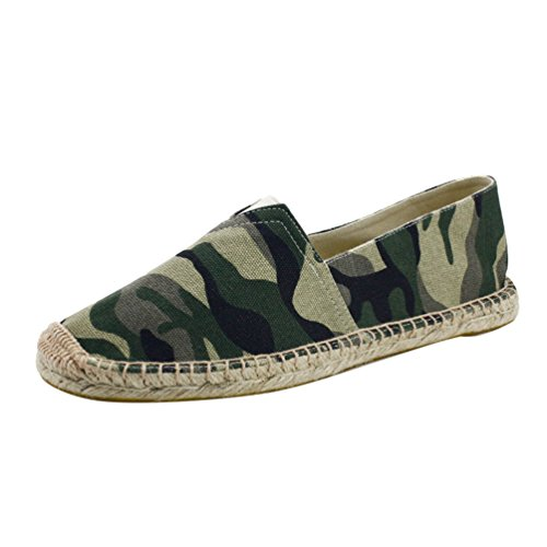 YOUJIA Hombre Clásico Alpargatas Camuflaje Respirable Zapatos Planos Slip-On Zapatillas