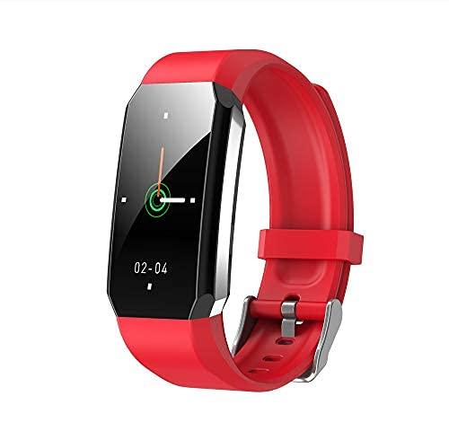 jiuyao Smart Watch Activity Fitness Tracker, IPX67 impermeabile Bluetooth Smart Watch con frequenza cardiaca sonno contapassi, monitoraggio della pressione sanguigna, temperatura corporea (rosso)
